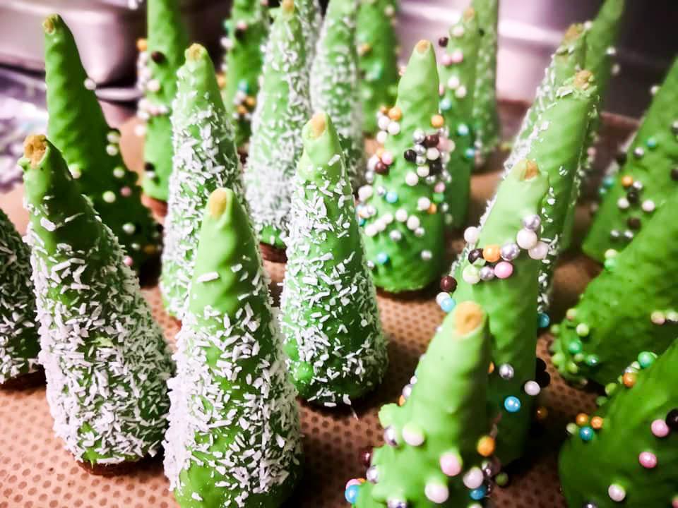 Weihnachtsidee: süße Christbäume