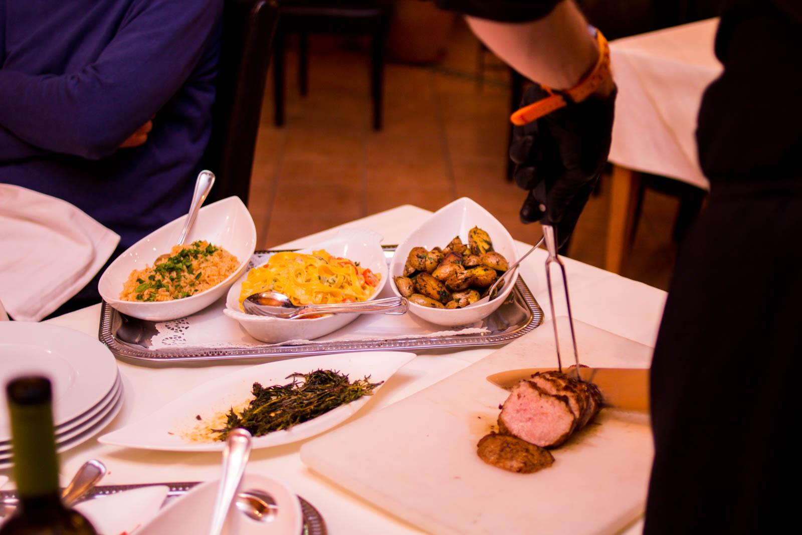 Shwo-Kochen vor dem Gast