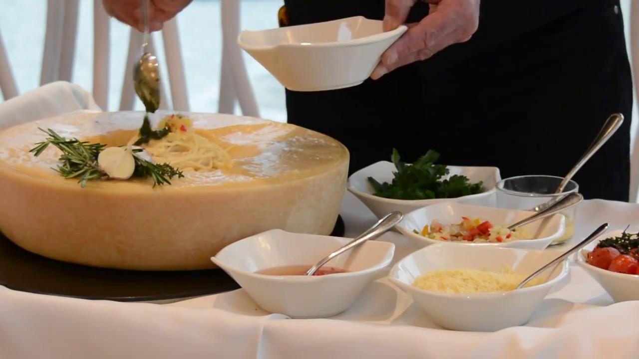 für die Koch-Show aus dem Parmesanlaib