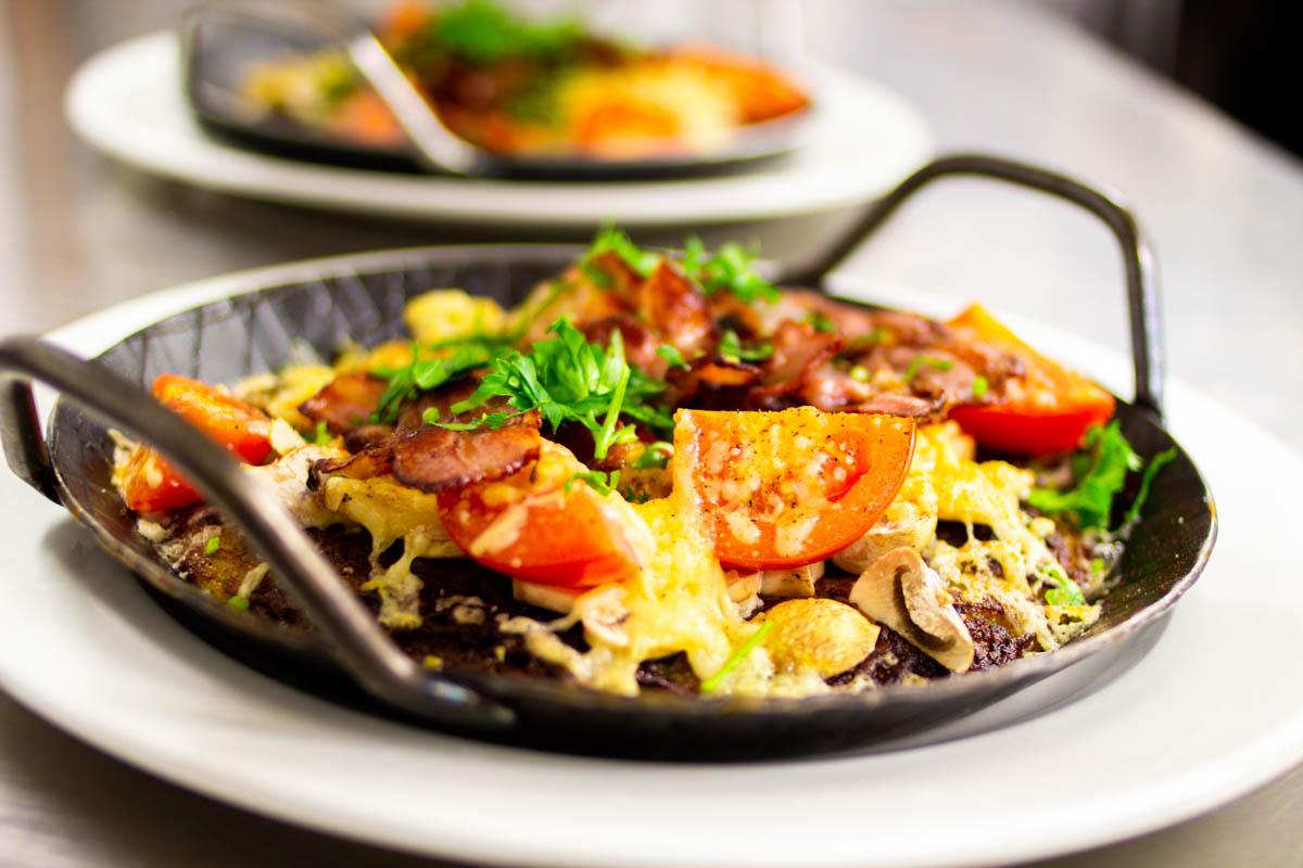 vegetarisches Essen nach dem Meeting