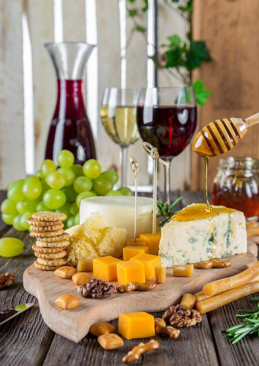 Weingelee zum Käse